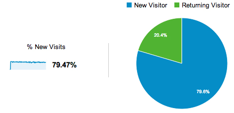 SEO Returning Visitors vs New Visitors